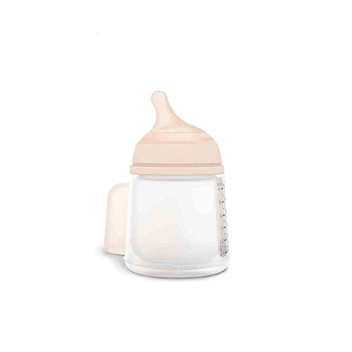 Suavinex Zero-Zero Biberón anticólicos +0 meses, 180 ml - Tetina Lactancia Materna, Flujo Lento