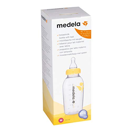 Medela - Biberón con tetina media (250 ml)