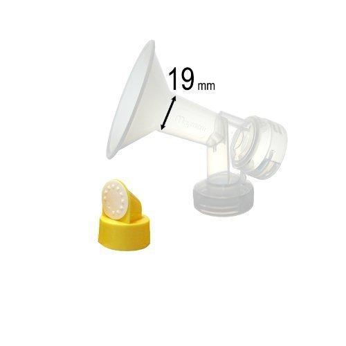 el nuevo diseño más cómodo De una sola pieza para senos (19 mm, extra pequeña) w / válvula, membrana para extractores de leche Medela...