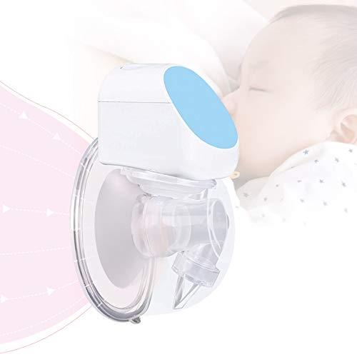 Bomba de leche materna portátil, extractor de leche materna eléctrico, manos libres, silencioso, 180 ml, para lactancia (individual,...