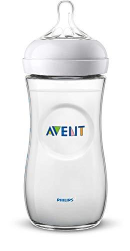 Philips Avent Biberón Natural SCF036/17 - Biberón de 330 ml con tetina con flujo para recién nacidos, diseñada para imitar el tacto del...