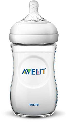 Philips Avent SCF033/17 - Biberón natural de 260 ml, transparente
