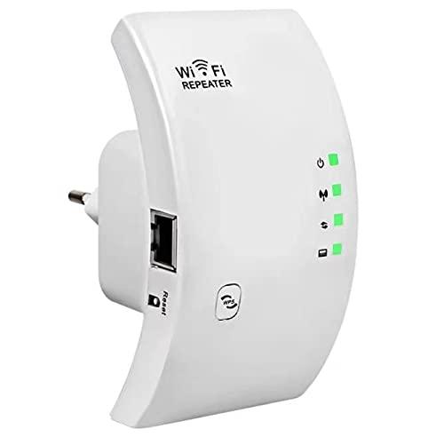 SOOTEWAY Repetidor WiFi, 300Mbps Extensor WiFi, Amplificador WiFi 2.4GHz con Repertidor/Ap Modo y la función WPS, Amplificador Señal de...