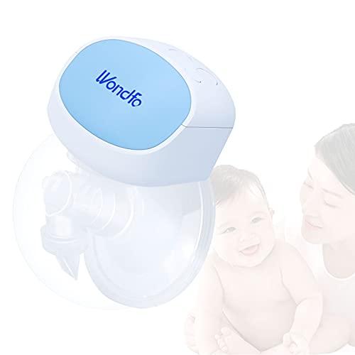 Wondfo Extractor de leche eléctrico portátil para lactancia con modo de masaje Extractor de leche portátil silencioso recargable para uso...