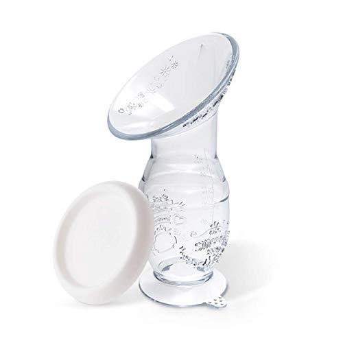 Bestele Sacaleches Manual, 100ml Silicona Colector de Leche Materna Sacaleches de Lactancia, Sin BPA Extractor Sacaleches Materna Bomba...