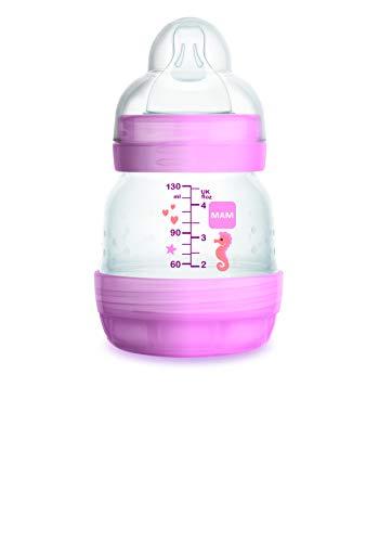 Intrucciones en lengua extranjera - Mam Easy Start - Biberón anticólica autoesterilizante con tetina Mis 0, 0 + meses, 130 ml, color rosa