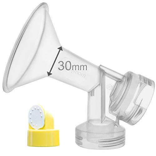 30 mm de una pieza extra para senos grande w / válvula y membrana para extractores de leche Medela; comparar a Medela 30 mm (X-Large)...