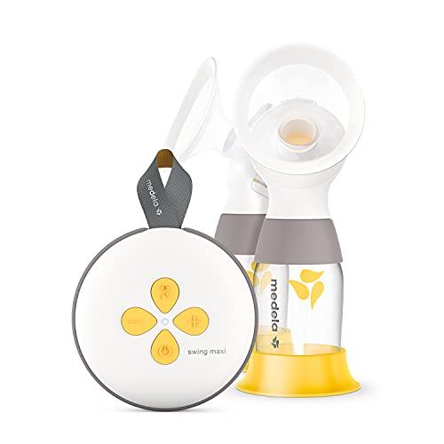 Medela Extractor de leche eléctrico Swing Maxi - Recargable mediante USB, más leche en menos tiempo, con embudos PersonalFit Flex y...