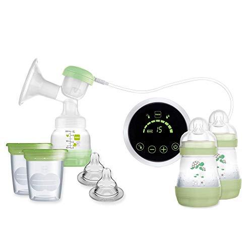 MAM Sacaleches 2 en 1 E108 - Sacaleches Eléctrico y Manual Para la Lactancia Materna, Incluye Extractor de Leche Materna, Biberones y...