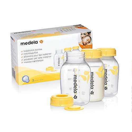 Medela pack de 3 botellas de 150ml. Biberones especiales para lactancia. Aptos para la alimentación del bebé con leche materna, sin...