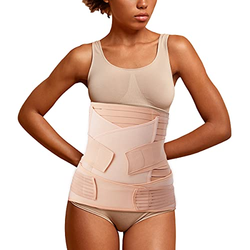 Aigori 3 en 1 Faja Postparto Reductora Mujer Recuperación después del Parto, Cinturón cómoda de Vientre/Cintura/Pelvis para Mujer y...