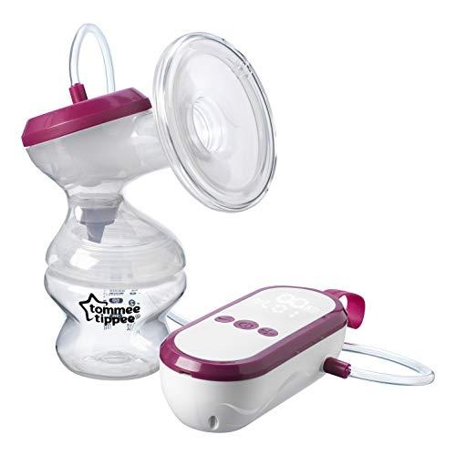 Tommee Tippee Bomba de leche eléctrica, unidad USB recargable y portátil muy silenciosa con modos de masaje y expreso