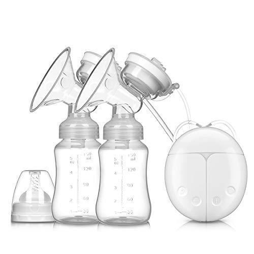 SONARIN Sacaleches eléctrico Extractor de leche eléctrico doble Prolactina Masaje automatico,8 Niveles 2 Modos interfaz USB(Blanco)