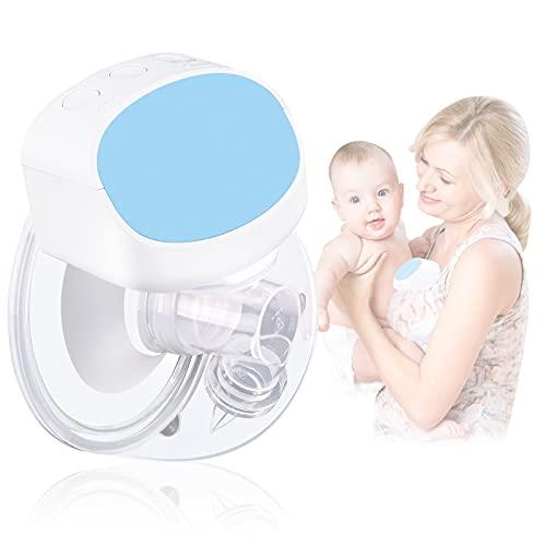 Bomba de leche materna portátil, extractor de leche materna eléctrico, manos libres Sacaleches, silencioso, 180 ml, para lactancia...