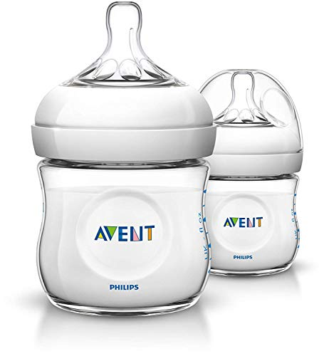 Philips Avent SCF690/27 - Pack de 2 biberones, tetina suave y flexible, anticólicos, PP 0% BPA, 125 ml, color transparente