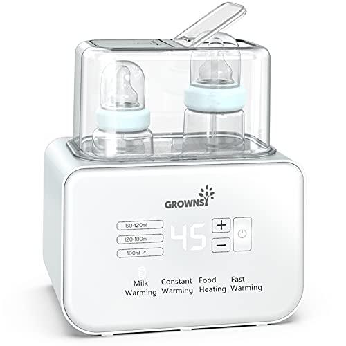 Calienta Biberones | Esterilizador Biberones | Calentador rápido de alimentos para bebés 6-en-1 y descongelador Calentador pantalla LCD...