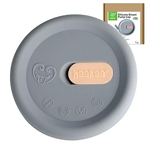 Haakaa - Cubierta para bomba de leche manual (silicona), color gris