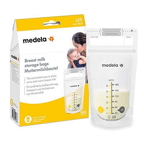 Medela - Bolsas de almacenamiento para leche materna Talla:25-Count
