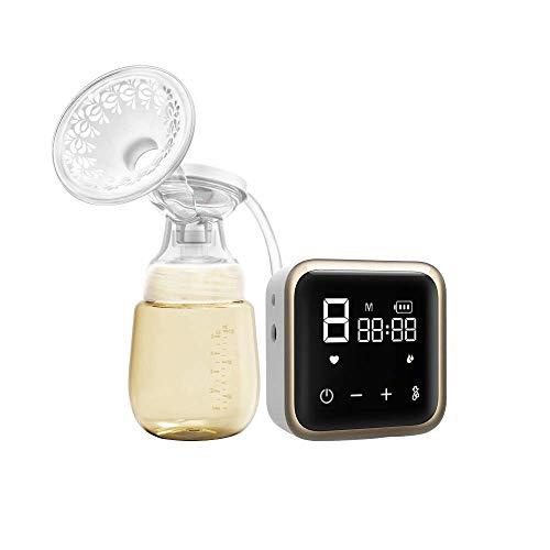 XSWZAQ Sacaleches eléctrico, portátil leche La lactancia materna de la bomba con el modo de masaje y niveles de succión de bombeo...