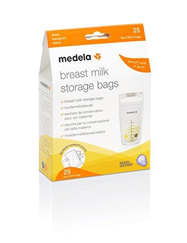 Medela Bolsas de almacenamiento y conservación para leche materna. Paquete de 25 unidades. Fáciles de usar, higiénicas y seguras para...