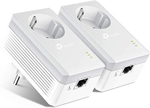 TP-Link TL-PA4010P Kit Powerline con enchufe adicional, AV 600 Mbps en Powerline, 1 puerto ethernet, homeplug AV, sin wifi, solución para...