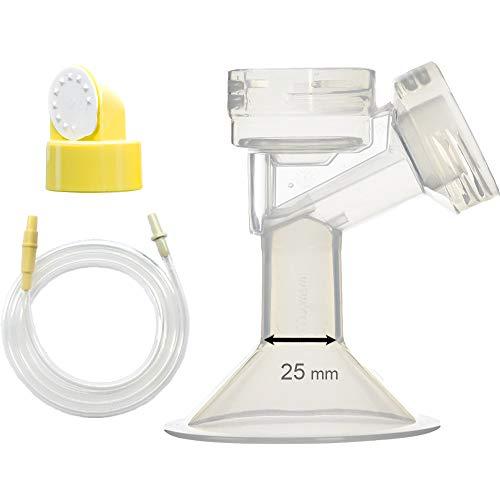 Maymom Kit extractor de leche Medela de oscilación de lactancia. Incluye 1 mediana para senos (Comparable a Medela PersonalFit 24mm), 1...