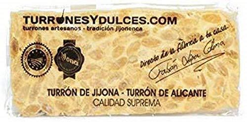 Turrón duro Alicante artesano. Tableta dura o barra de 300 gramos – Turrones Fabián - ¿Cuál es nuestro secreto? Turrón elaborado en...