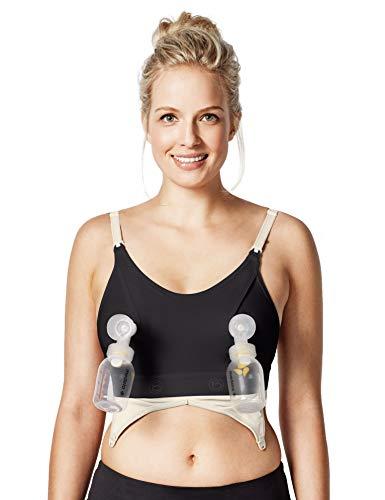 Bravado Designs - Sujetador de lactancia con clip y bomba para bombear manos libres Negro M