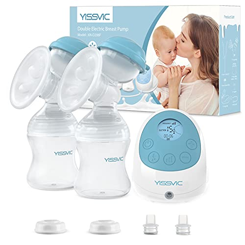 YISSVIC Sacaleches eléctrico con función de masaje y memoria, recargable, sin BPA, perfecto para la lactancia en el pecho, portátil