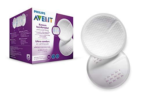Philips Avent SCF254/61 - Discos absorbentes de lactancia desechables, pack de 60 discos absorbentes para usar de día o de noche, Blanco