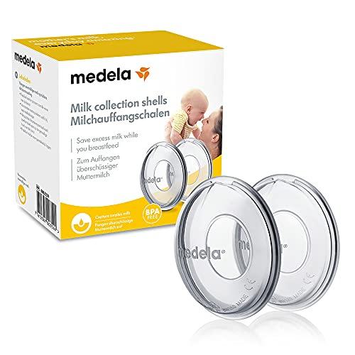 Medela Copas recolectoras de leche - Sin BPA, en silicona suave y flexible, incluye 2 copas