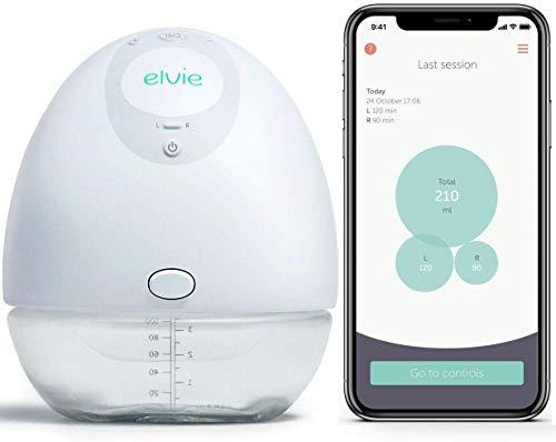 Elvie Pump - Bomba de leche portátil con aplicación y silenciosa - Bomba de pecho eléctrica portátil y manos libres perfecta para madres...