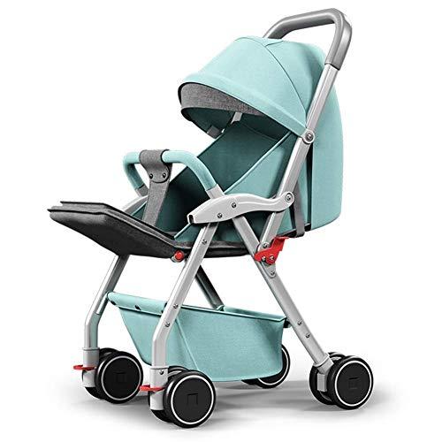 GWM Sillones Cochecito de bebé de alta vista Sentado Mentira Plegable Paraguas de bebé Cochecito de bebé de cuatro ruedas