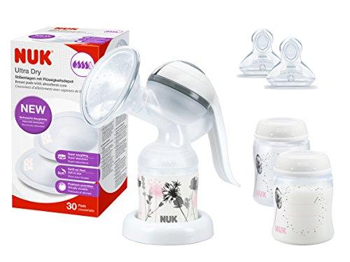 NUK 10225111 AJUS.FOTOS con 1x Jolie leche manual protectores mamarios bomba 36s 1x Classic, 2 veces la leche materna, 2x + First Choice...