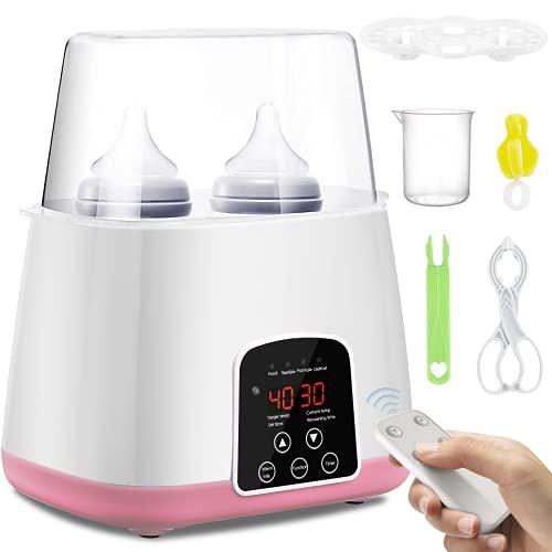 SaponinTree Calienta Biberones, 6 en 1 Multifuncional Calentador Biberones Portátil de Botellas Electrónico Termostato con Pantalla LCD,...