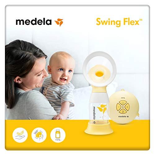 Medela Swing Flex sacaleches eléctrico simple, extractor de leche con embudo Flex (talla S y M incluidas) que se adapta a la forma del...
