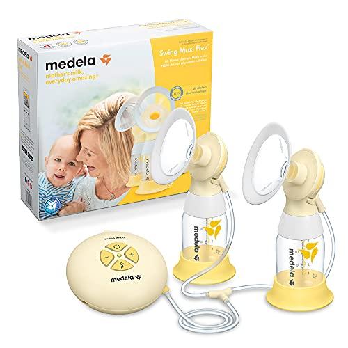 Medela Swing Maxi Flex - Bomba de pecho eléctrica doble – más leche en menos tiempo, con protectores flexibles PersonalFit y tecnología...