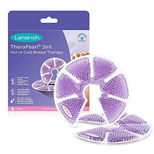 Lansinoh Terapia de Frío / Calor para el Pecho, TheraPearl 3 en 1. Para la mastitis, pechos congestionados y ayuda a la estimulación de la...