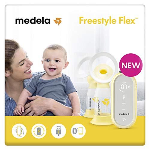 Medela Freestyle Flex sacaleches eléctrico doble con cable USB,extractor de leche con embudo Flex(talla SyM),se adapta a la forma del...