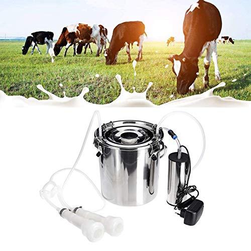 Jnzr De Cabra, Vaca de ordeño automático, 5L portátil de ordeño eléctrico de la Bomba de Acero Inoxidable Barril de Leche vacío...