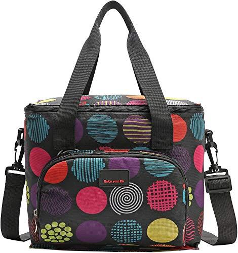 Nevera portátil de 10 l, bolsa para el almuerzo, bolsa para guardar comida, multifuncional, pequeña bolsa de picnic, bolsa de playa, bolsa...