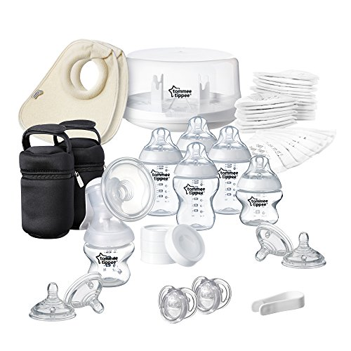 Tommee Tippee Closer to Nature - Pack de esterilizador para microondas y sacaleches