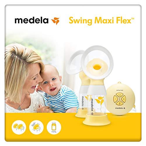 Medela Swing Maxi Flex sacaleches eléctrico doble,extractor de leche con embudo Flex(talla SyM incluidas) que se adapta a la forma del...