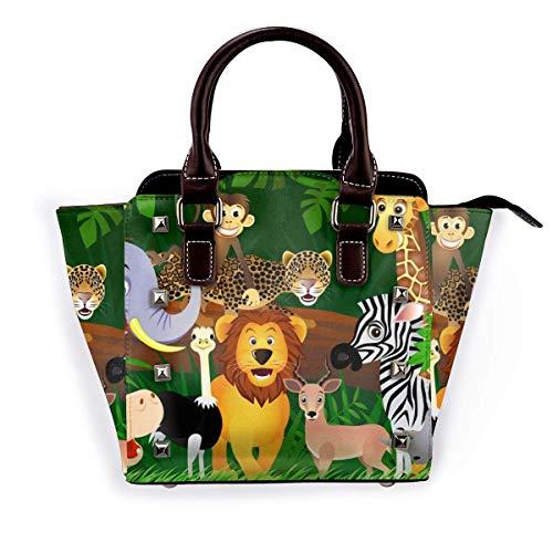 Totes - Bolsos de piel con diseño de animales y elefantes, para mujer, para el trabajo o la compra