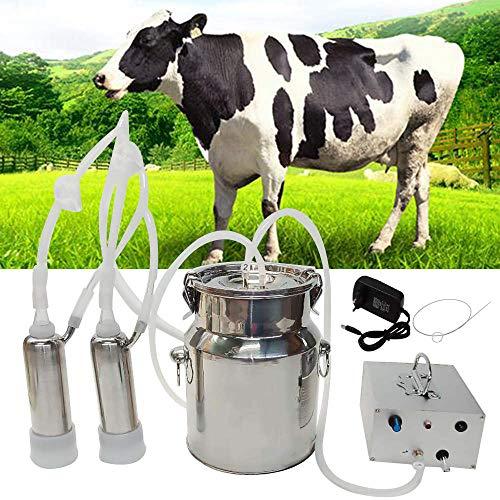 Jnzr Máquina eléctrica ordeño, 14L portátil Leche ordeño automático, ovejas vacío Cabra, Vaca ordeño Kit con Leche Barril, la Leche...