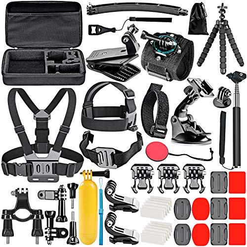 Neewer 50-en-1 Accesorios de Cámara de Acción Kit para GoPro 9 8 GoPro Hero 7 6 5 4 Hero Session 5 Apeman dji OSMO Action SJ6000 DBPOWER...